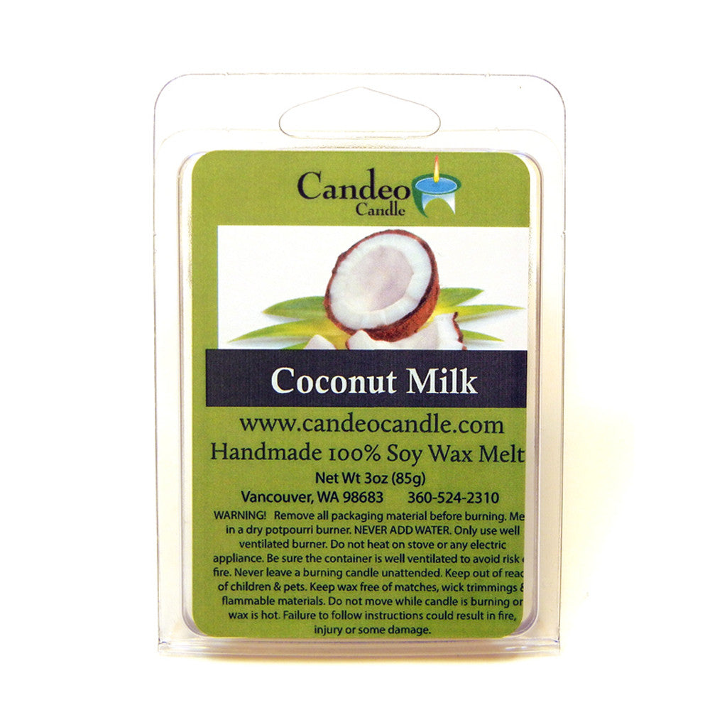Coconut Milk, Soy Melt Cubes - Candeo Candle