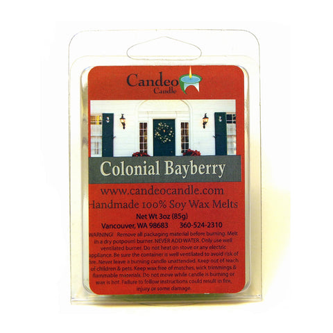 Colonial Bayberry, Soy Melt Cubes - Candeo Candle