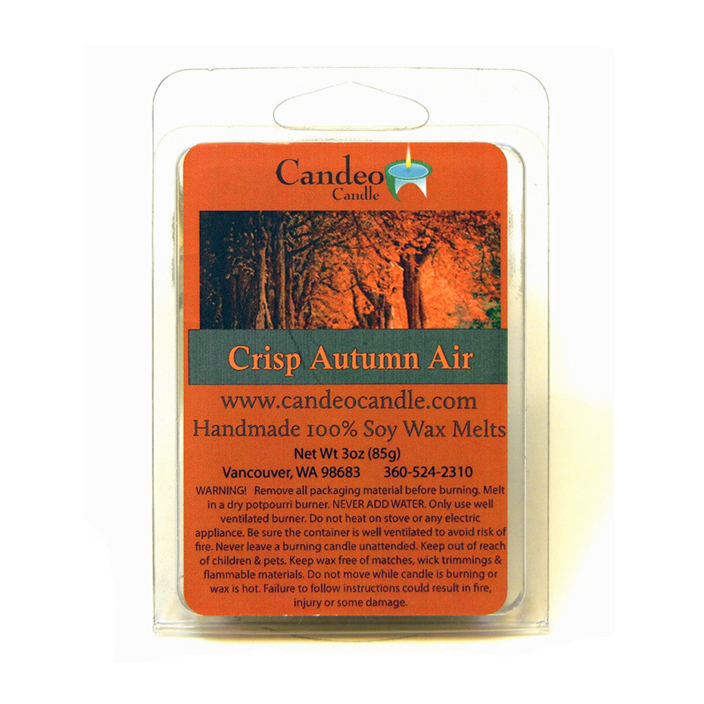 Crisp Autumn Air, Soy Melt Cubes - Candeo Candle
