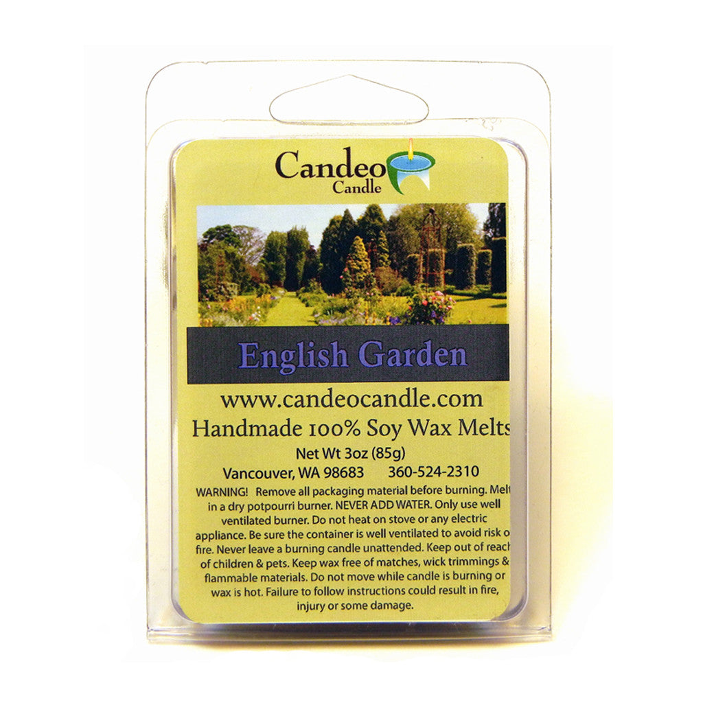 English Garden, Soy Melt Cubes - Candeo Candle