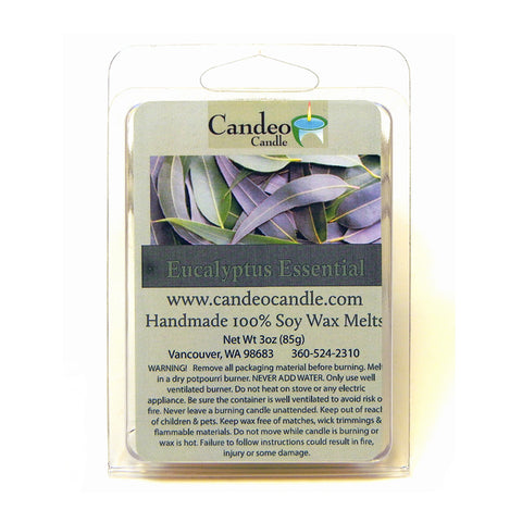 Eucalyptus Essential Oil, Soy Melt Cubes - Candeo Candle