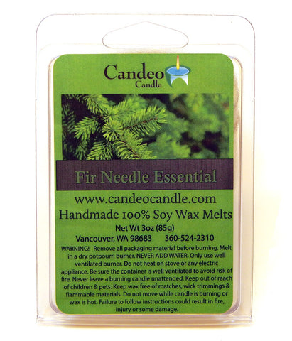 Fir Needle Essential Oil, Soy Melt Cubes - Candeo Candle