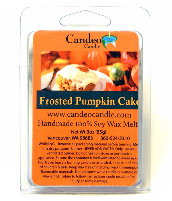 Frosted Pumpkin Cake, Soy Melt Cubes - Candeo Candle