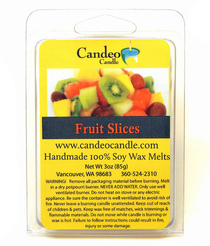 Fruit Slices, Soy Melt Cubes - Candeo Candle