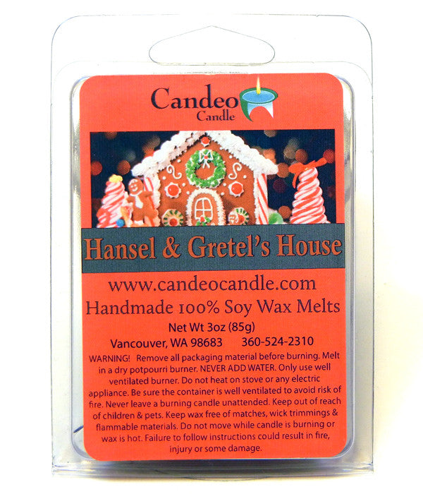 Hansel & Gretel's House, Soy Melt Cubes - Candeo Candle