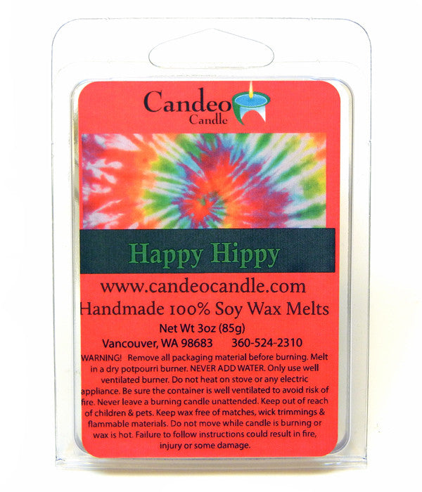 Happy Hippy, Soy Melt Cubes - Candeo Candle