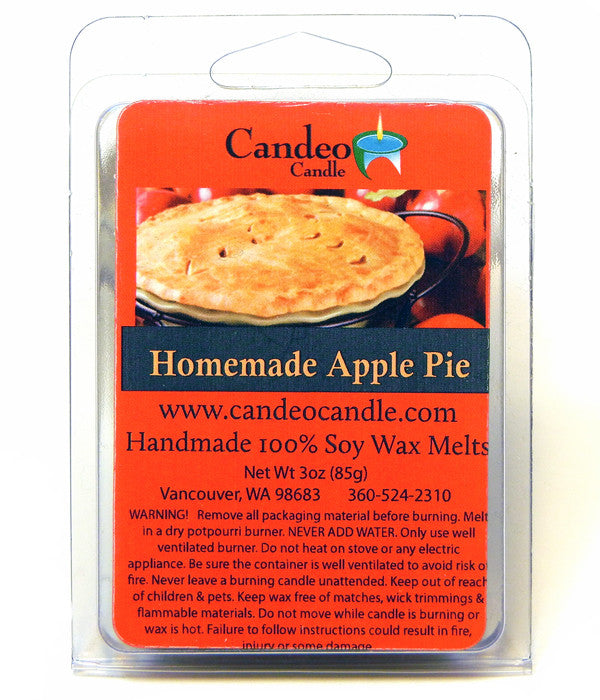 Homemade Apple Pie, Soy Melt Cubes - Candeo Candle