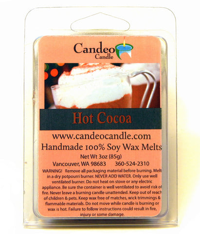 Hot Cocoa, Soy Melt Cubes - Candeo Candle