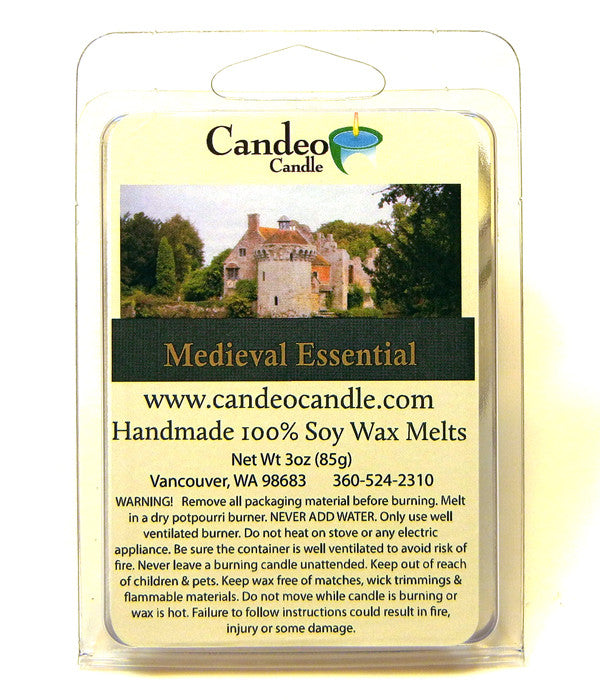 Medieval Essential Oil, Soy Melt Cubes - Candeo Candle