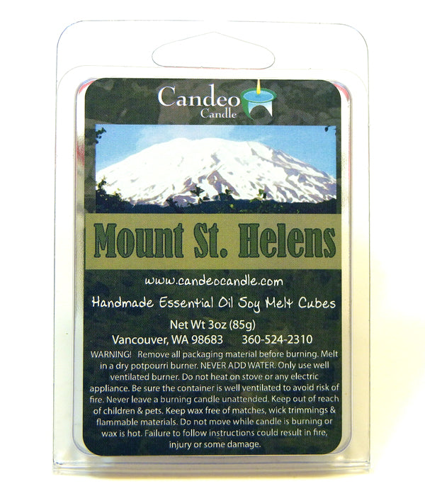 Mount St. Helens, Essential Oil Blend, Soy Melt Cubes - Candeo Candle