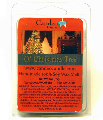 O' Christmas Tree, Soy Melt Cubes - Candeo Candle
