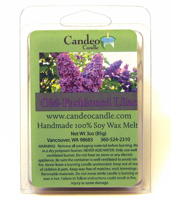 Old-Fashioned Lilac, Soy Melt Cubes - Candeo Candle