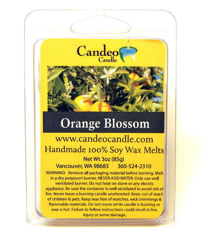 Orange Blossom, Soy Melt Cubes - Candeo Candle