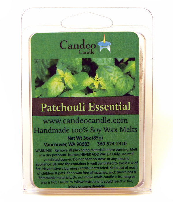 Patchouli Essential Oil, Soy Melt Cubes - Candeo Candle