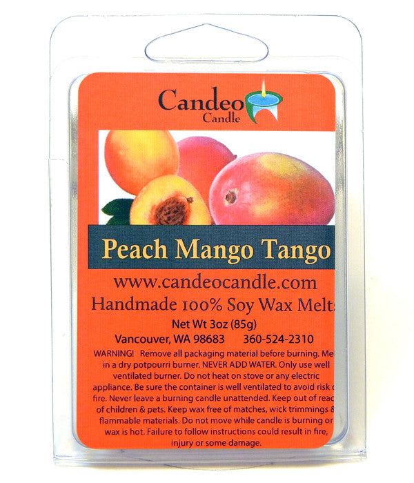 Peach Mango Tango, Soy Melt Cubes - Candeo Candle