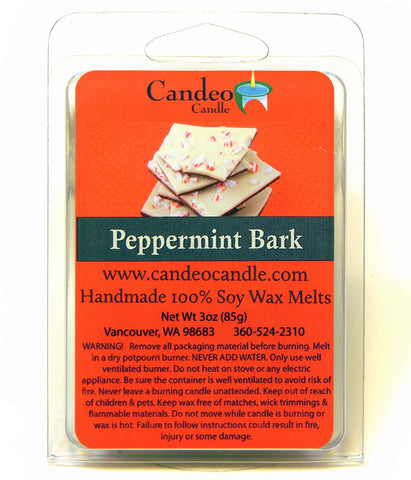 Peppermint Bark, Soy Melt Cubes - Candeo Candle