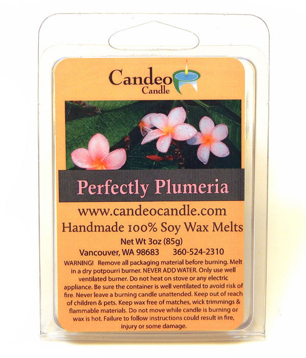 Perfectly Plumeria, Soy Melt Cubes - Candeo Candle
