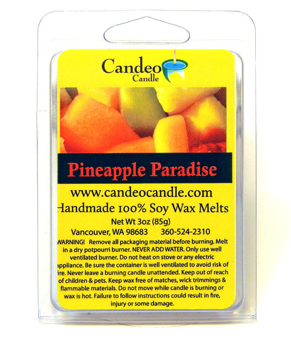 Pineapple Paradise, Soy Melt Cubes - Candeo Candle