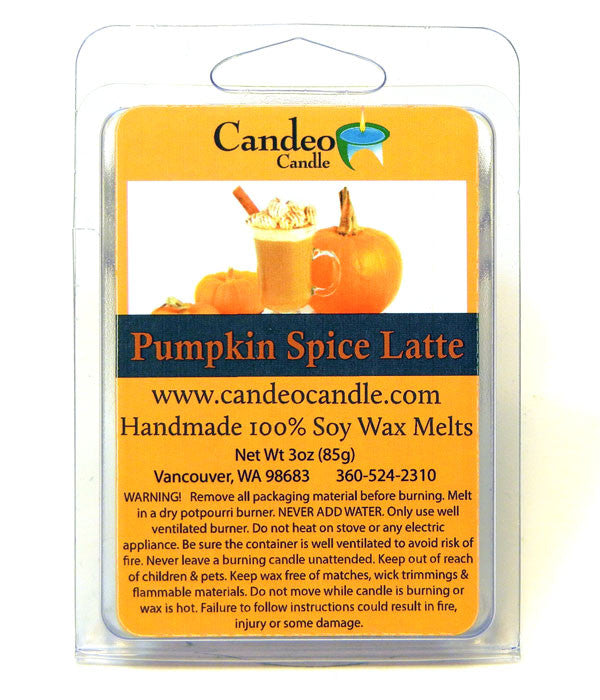 Pumpkin Spice Latte, Soy Melt Cubes - Candeo Candle