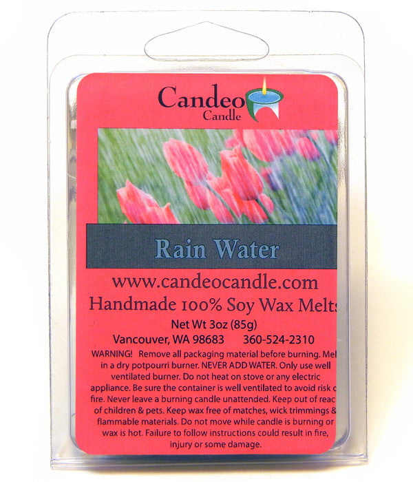 Rain Water, Soy Melt Cubes - Candeo Candle
