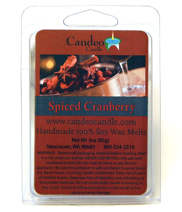 Spiced Cranberry, Soy Melt Cubes - Candeo Candle
