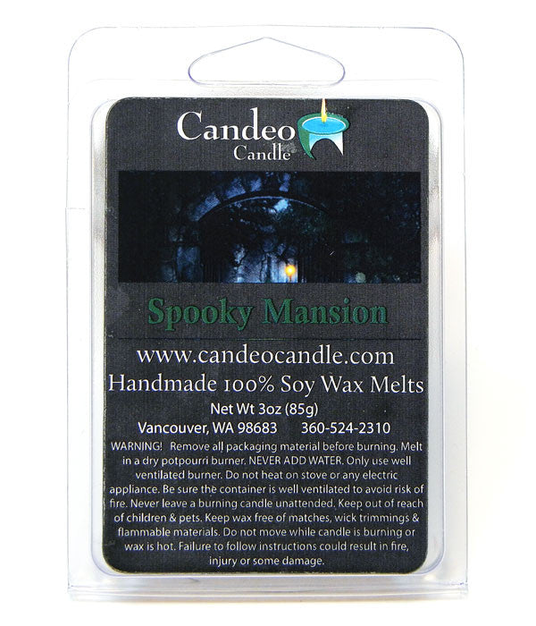 Spooky Mansion, Soy Melt Cubes - Candeo Candle