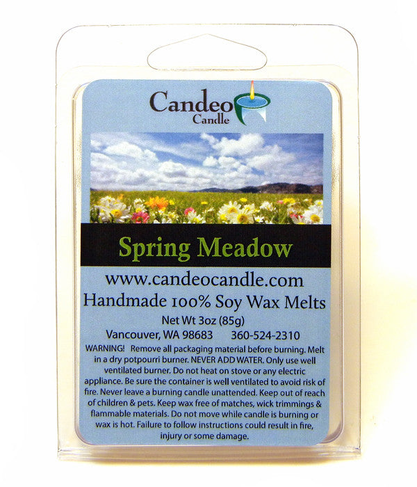 Spring Meadow, Soy Melt Cubes - Candeo Candle