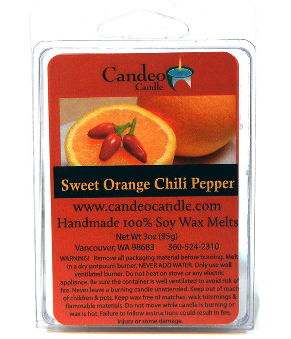 Sweet Orange Chili Pepper, Soy Melt Cubes - Candeo Candle