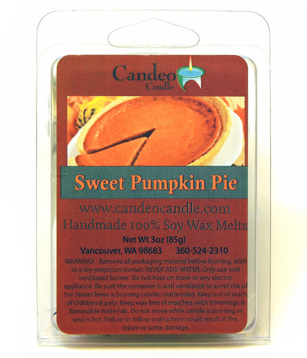 Sweet Pumpkin Pie, Soy Melt Cubes - Candeo Candle