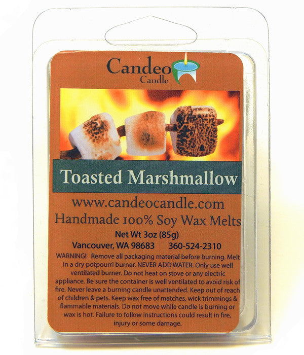 Toasted Marshmallow, Soy Melt Cubes - Candeo Candle