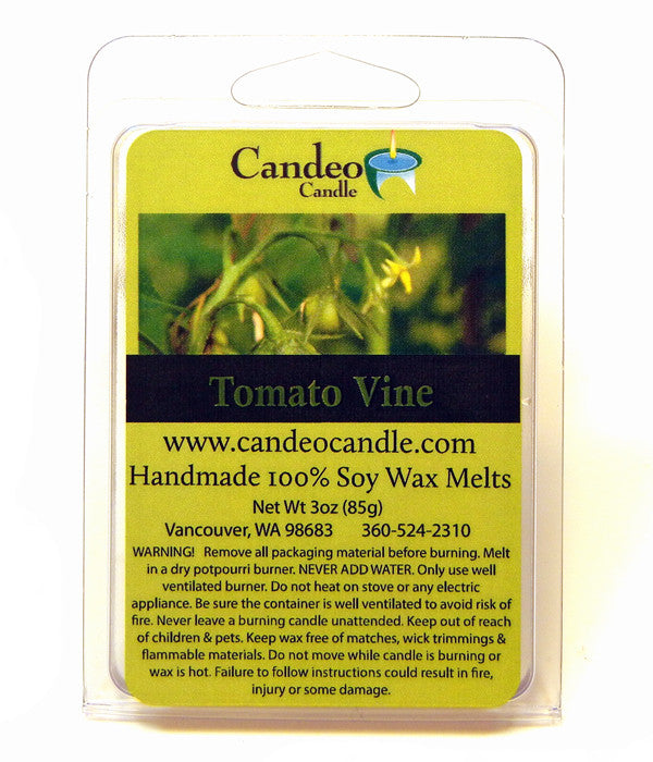 Tomato Vine, Soy Melt Cubes - Candeo Candle