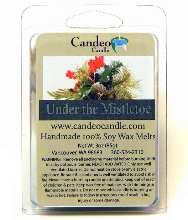 Under the Mistletoe, Soy Melt Cubes - Candeo Candle