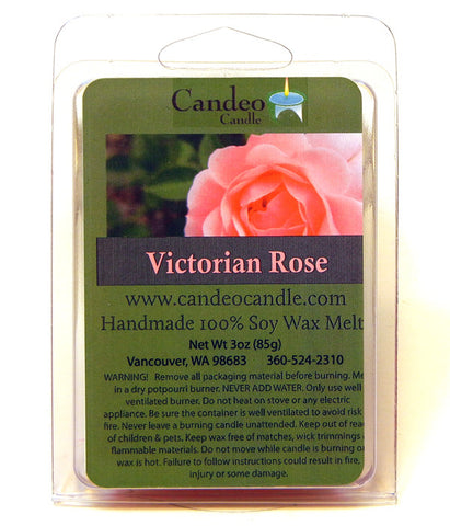 Victorian Rose, Soy Melt Cubes - Candeo Candle