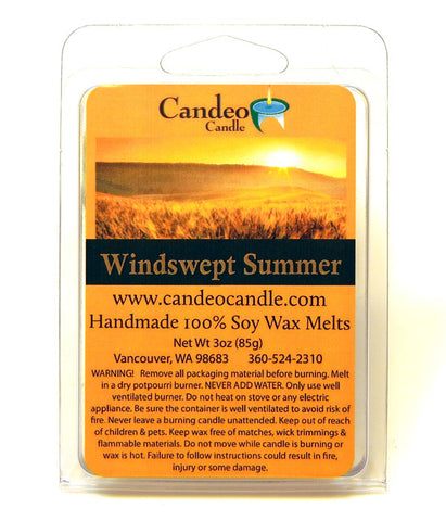 Windswept Summer, Soy Melt Cubes - Candeo Candle