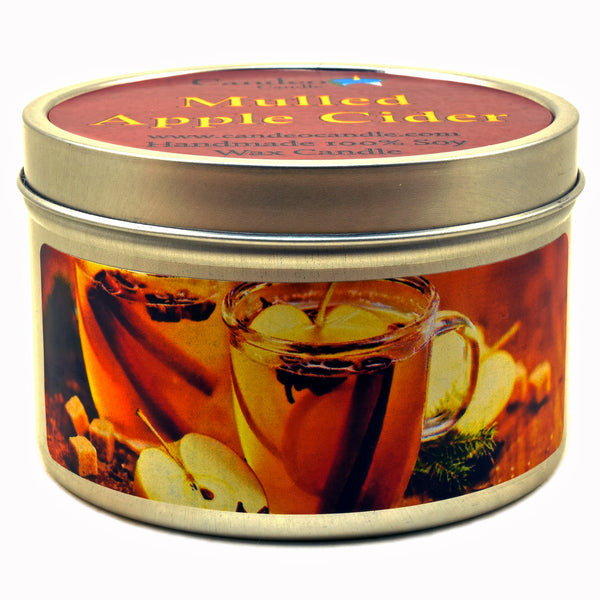 Mulled Apple Cider, 6oz Soy Candle Tin
