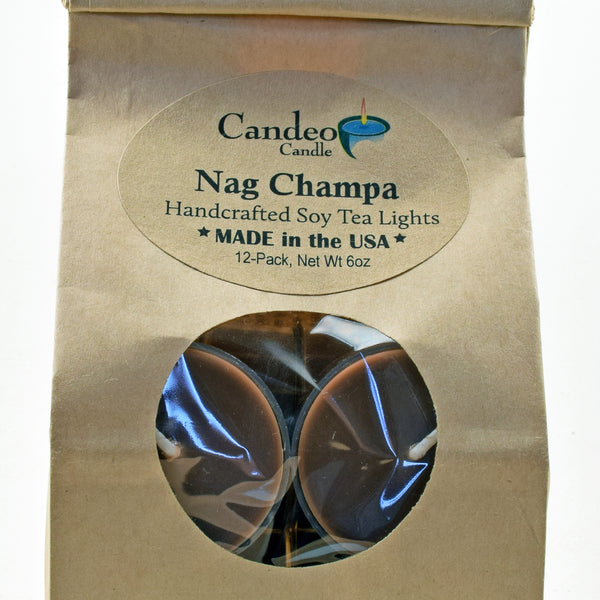 Nag Champa, Soy Tea Light 12-Pack