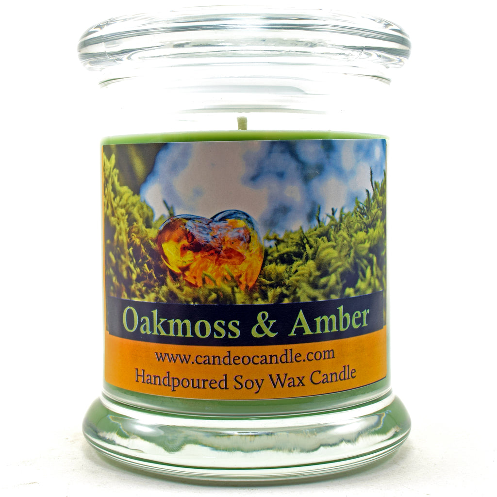 Oakmoss & Amber, 9oz Soy Candle Jar