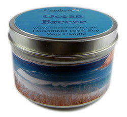 Ocean Breeze, 6oz Soy Candle Tin - Candeo Candle