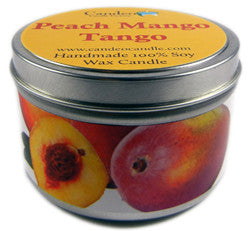 Peach Mango Tango, 6oz Soy Candle Tin - Candeo Candle