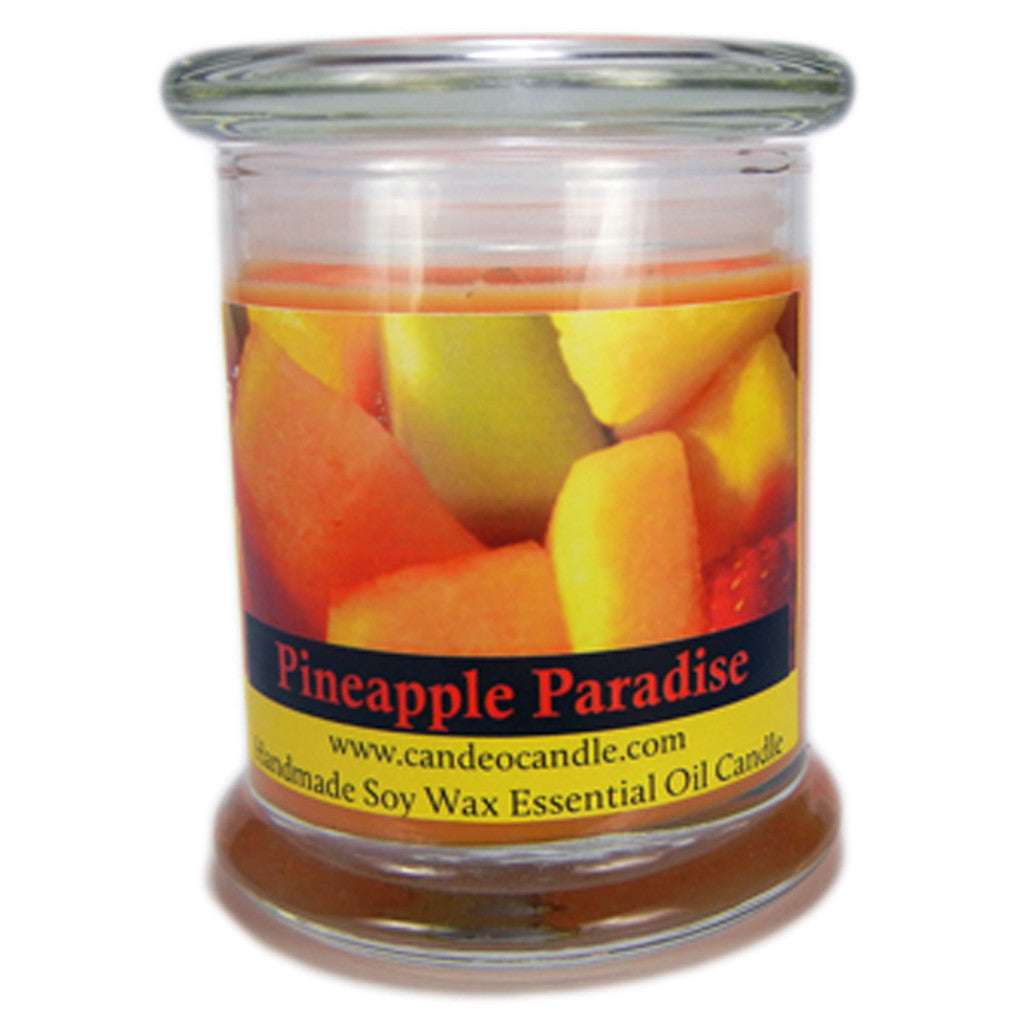 Pineapple Paradise, 9oz Soy Candle Jar - Candeo Candle