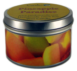 Pineapple Paradise, 6oz Soy Candle Tin - Candeo Candle