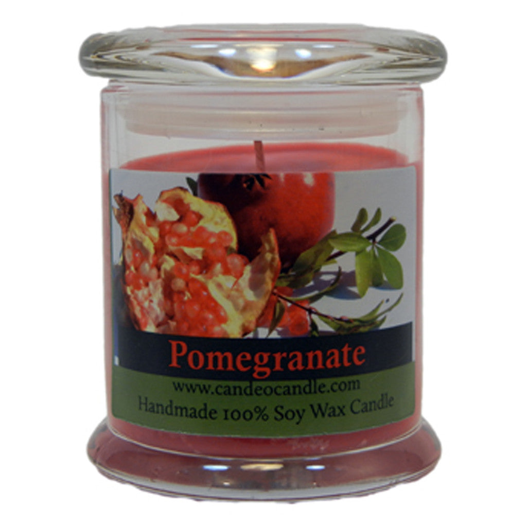 Pomegranate, 9oz Soy Candle Jar - Candeo Candle