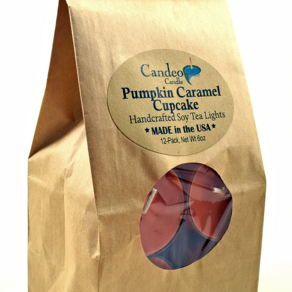 Pumpkin Caramel Cupcake, Soy Tea Light 12-Pack