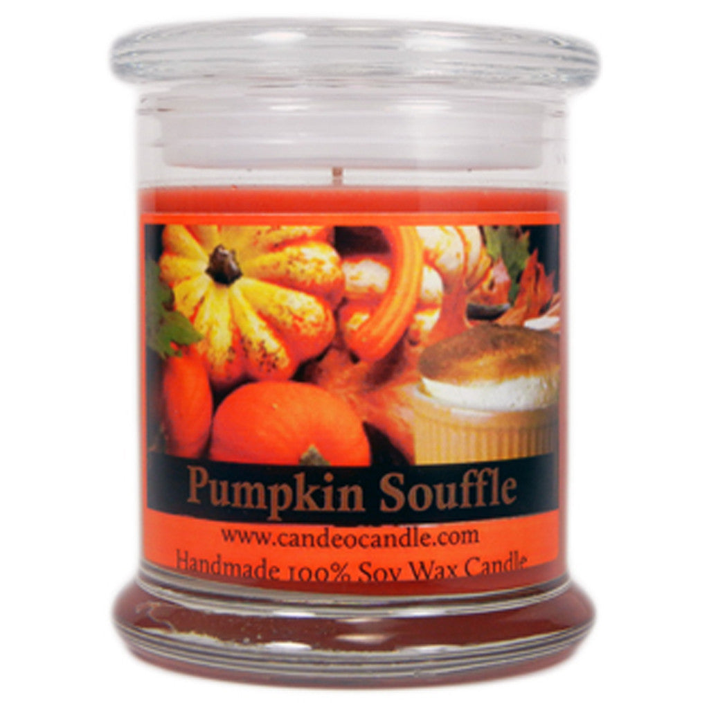 Pumpkin Souffle, 9oz Soy Candle Jar - Candeo Candle