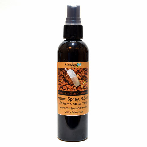 Cinnamon Glazed Almonds, 3.5 oz Room Spray - Candeo Candle