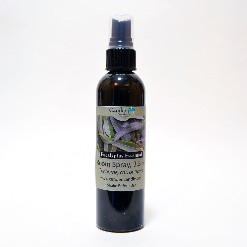 Eucalyptus Essential Oil, 3.5 oz Room Spray - Candeo Candle