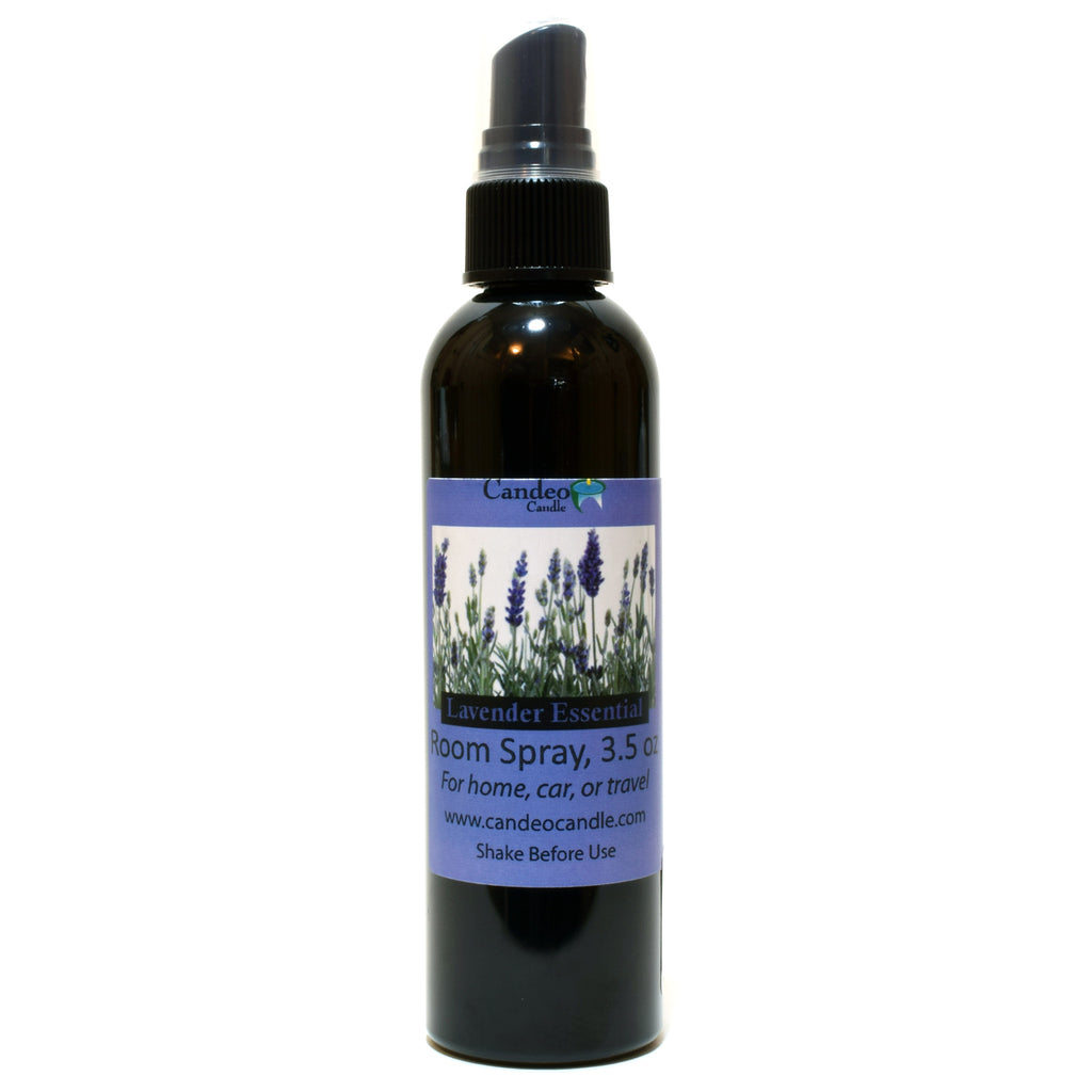 Lavender Essential Oil, 3.5 oz Room Spray - Candeo Candle