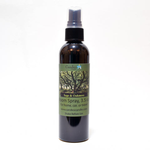 Sage & Oakmoss, 3.5 oz Room Spray - Candeo Candle