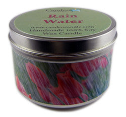 Rain Water, 6oz Soy Candle Tin - Candeo Candle