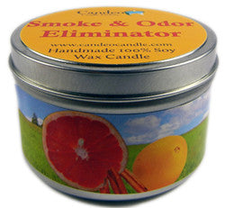 Smoke & Odor Eliminator, 6oz Soy Candle Tin - Candeo Candle